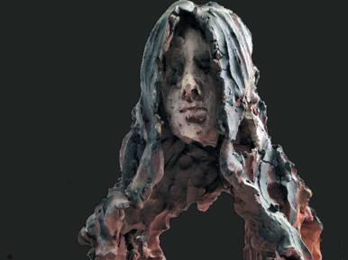 Душата на непознато момиче / 2007 г /теракота, ангоби / 14x21x18 см / автор Спартак Дерменджиев /собственост на автора